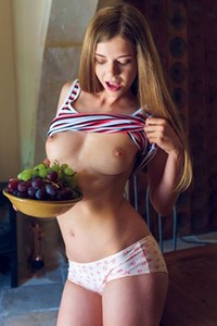 Model Kay J in I Am Eating You Are Watching