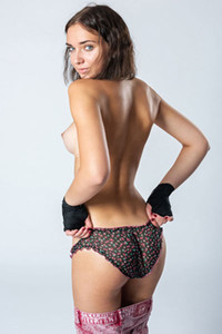 Model Oxana Chic in Boxer