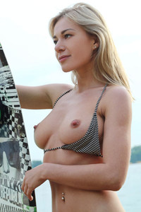 Model Candice B in Water Sport
