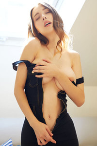Model Mila Azul in Zipped Up