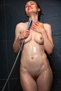 Model Tanya Grace in Spa Shower